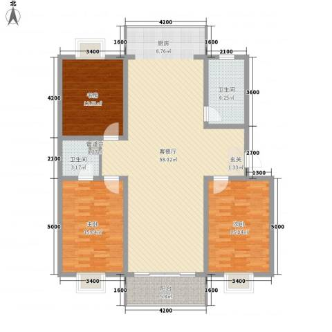 文昌花园3室1厅2卫0厨162.00㎡户型图