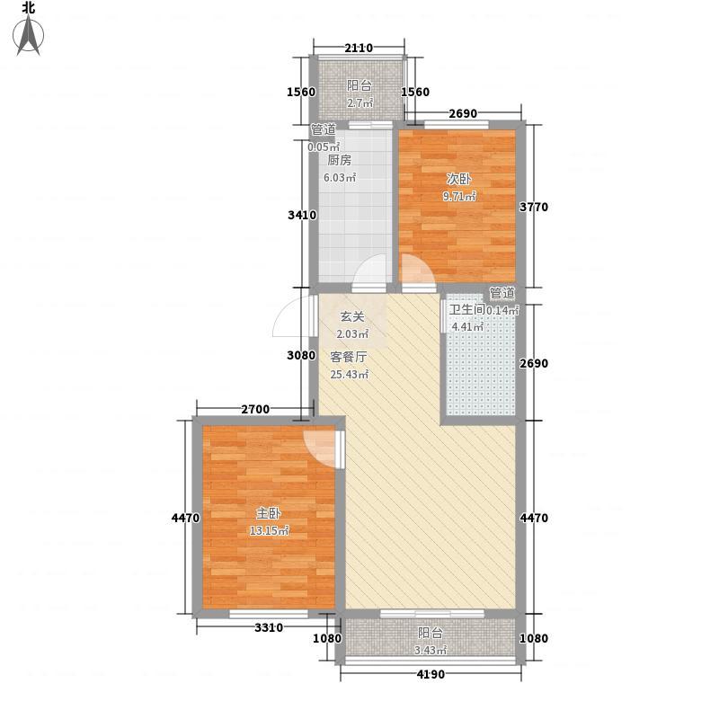 众邦2号院户型2室