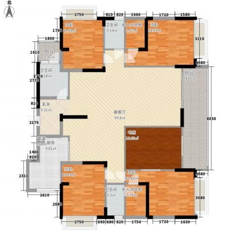 宝麒花园5室1厅3卫1厨182.00㎡户型图