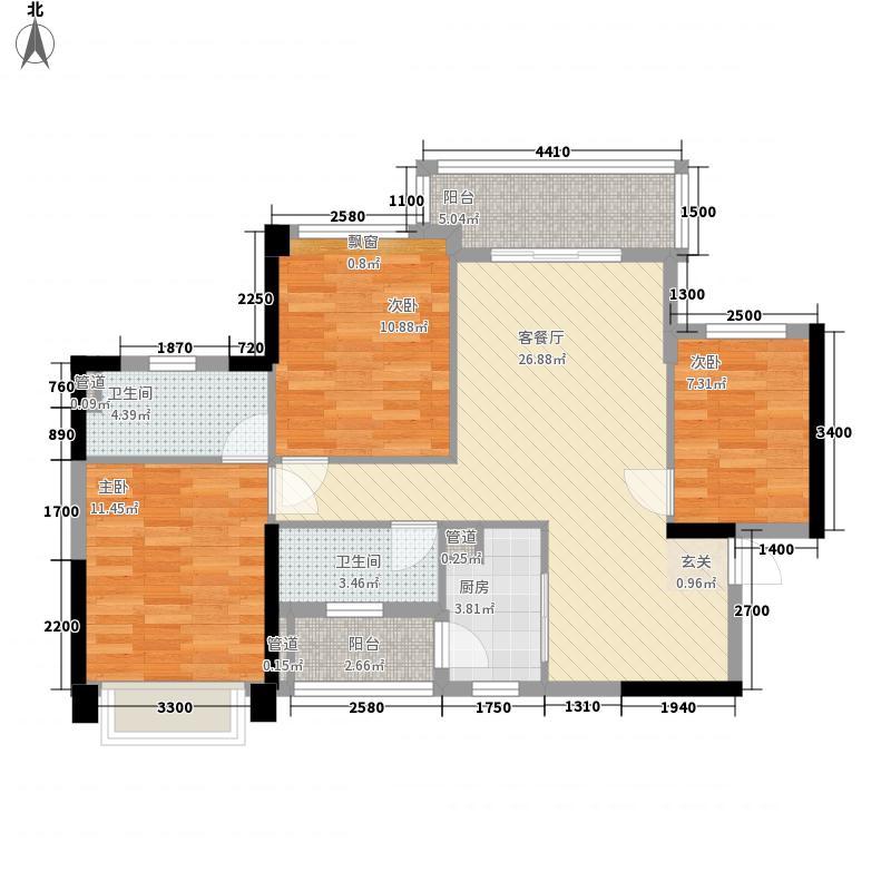 丰逸尚居15.86㎡A2栋05户型3室2厅2卫1厨