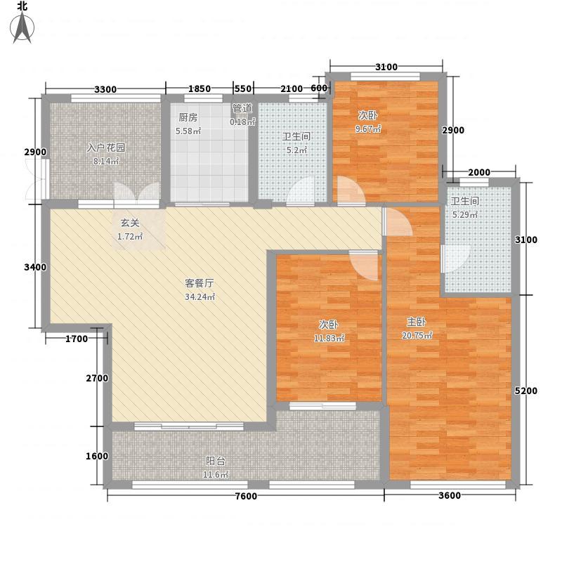 百步亭花园温馨苑124.00㎡户型3室