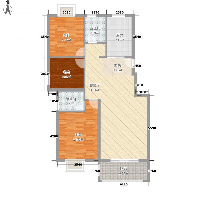布政新村户型2室2厅2卫1厨