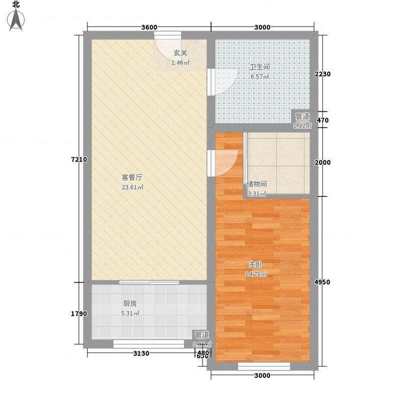 房产统建楼小区花1户型2室1厅1卫