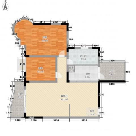 莲花苑二期2室1厅1卫1厨148.00㎡户型图
