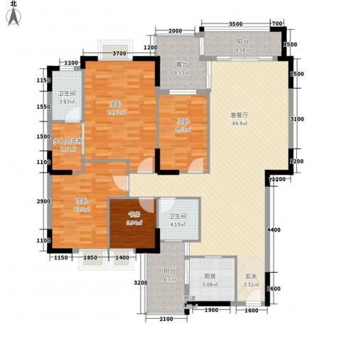 麦兴新苑4室1厅2卫1厨177.00㎡户型图