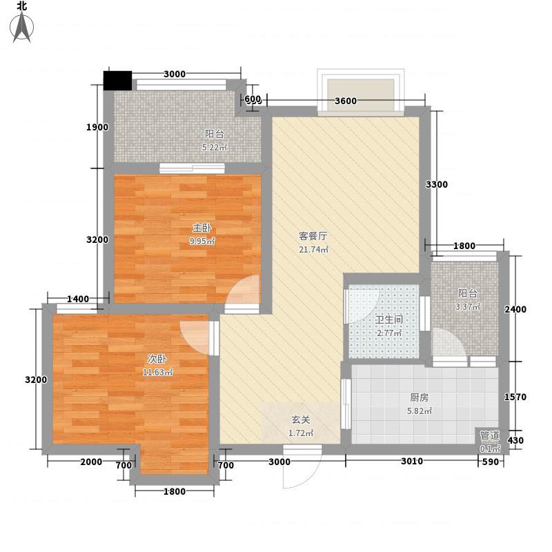 金辉城江城里一期洋房所有楼栋标准层C2户型