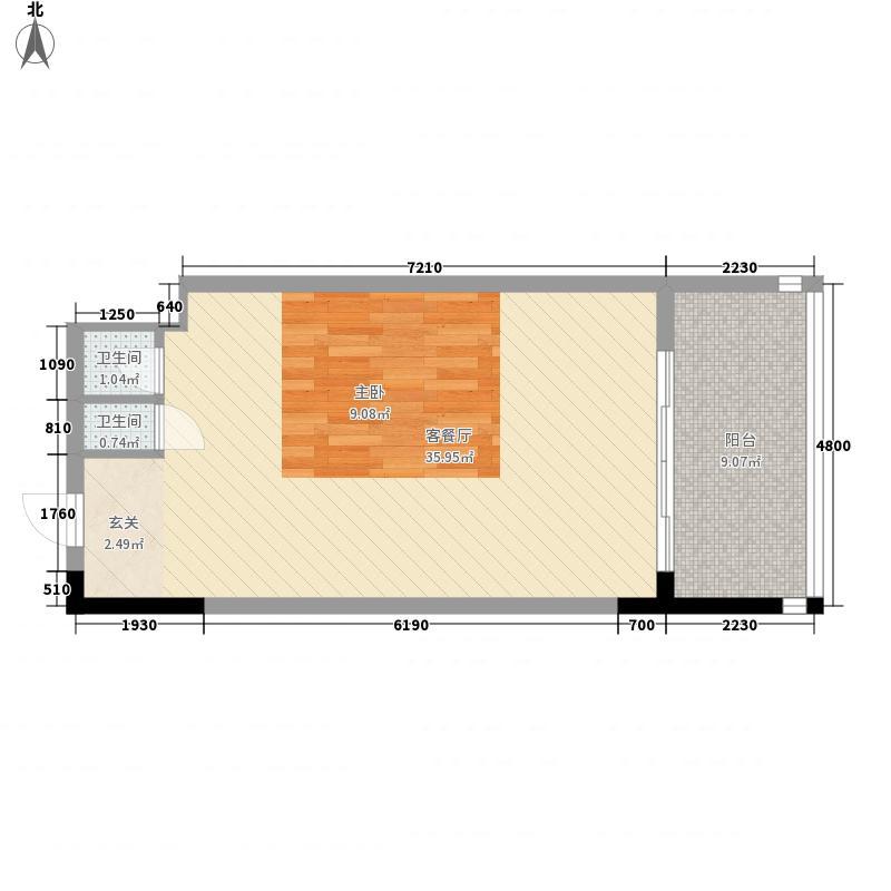 三亚力合国际中心65.00㎡三亚力合国际中心户型图B1户型平面图户型10室