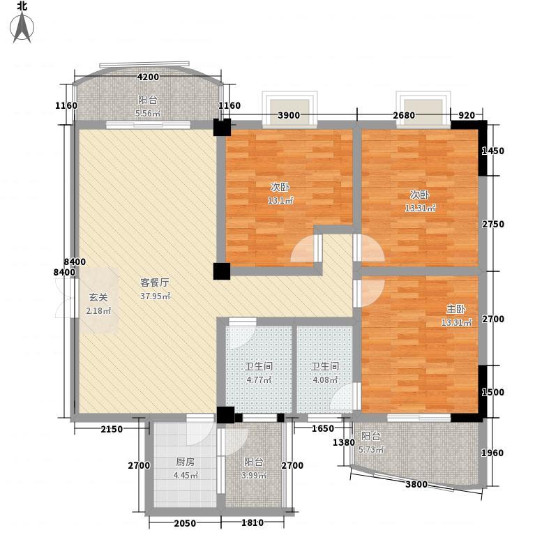 人民小区三阳户型3室2厅2卫1厨