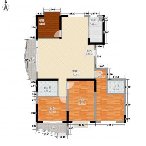 丰泽华庭4室1厅2卫1厨156.00㎡户型图