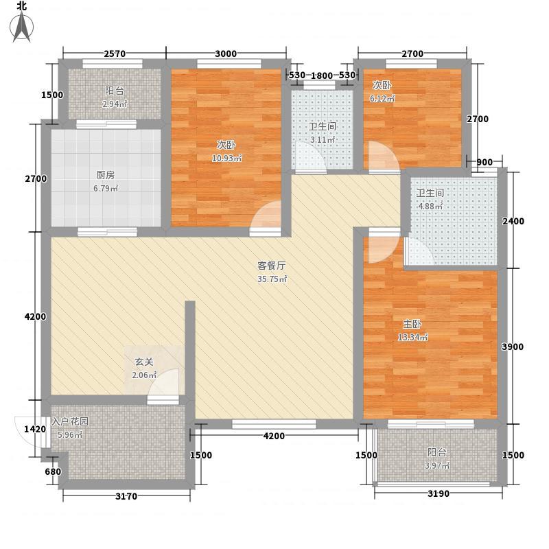 百步亭花园温馨苑137.00㎡户型3室