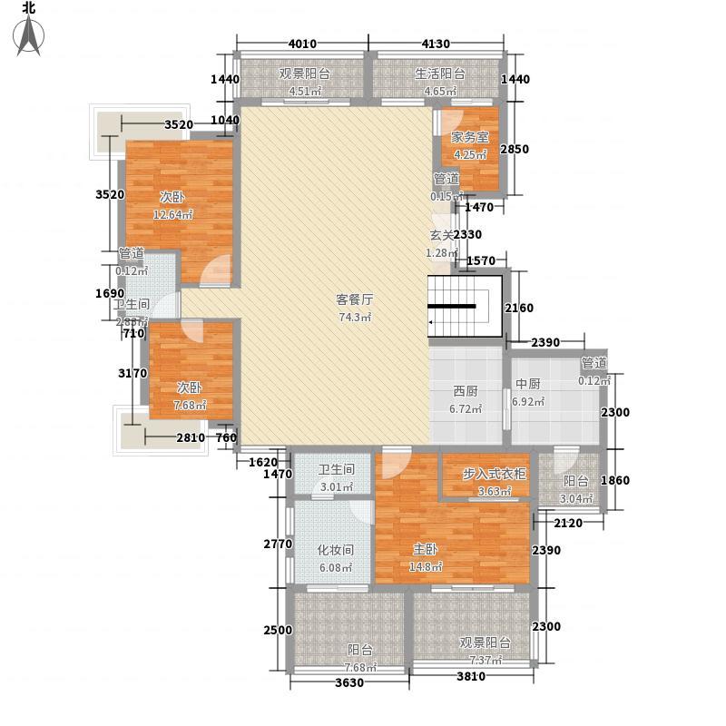 五指山水林溪1栋-A4-f下层户型3室2厅2卫2厨