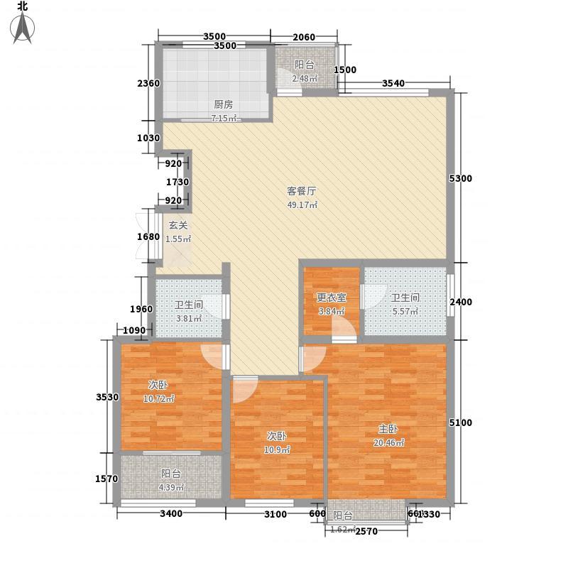 银丰花园131.50㎡12B、16号楼C4户型3室2厅2卫