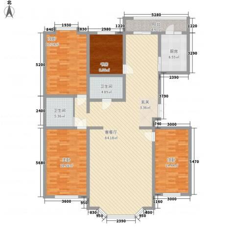 景苑花园4室1厅2卫1厨144.80㎡户型图