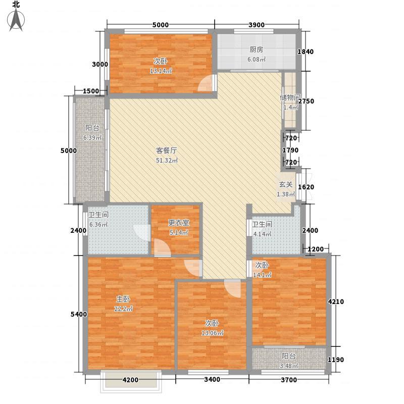 银丰花园188.00㎡D4户型4室2厅2卫1厨