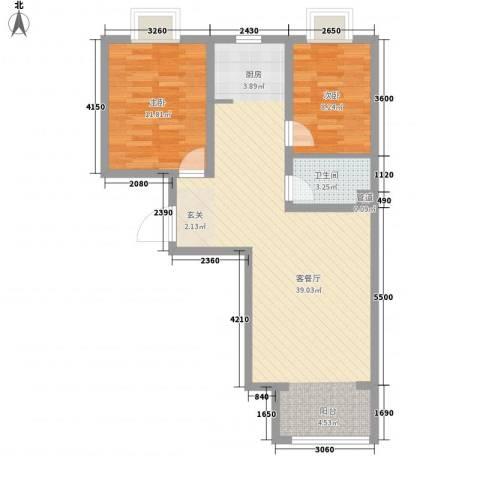 夏威夷南岸二期2室1厅1卫0厨89.00㎡户型图
