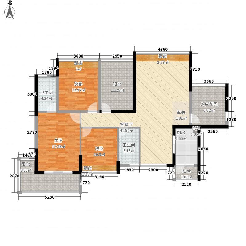 民发天地151.52㎡D3户型3室2厅2卫1厨