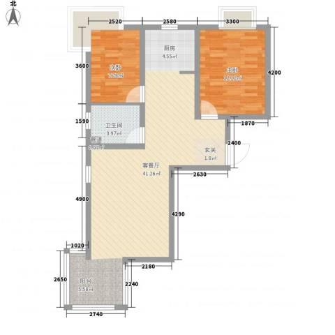夏威夷南岸二期2室1厅1卫0厨87.00㎡户型图