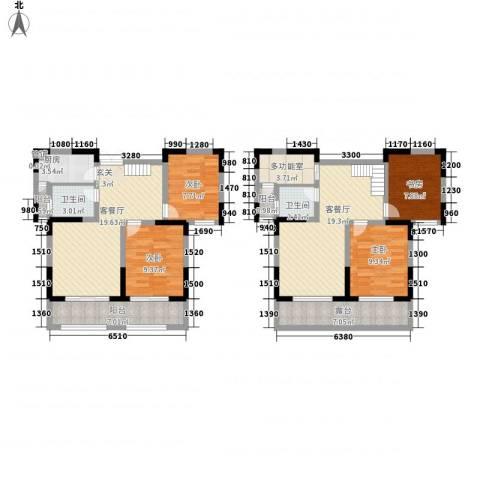 山南小镇4室2厅2卫1厨151.00㎡户型图