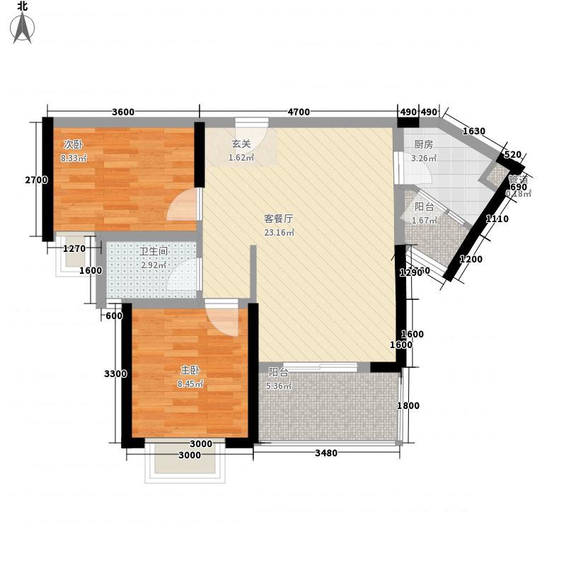 御玺山・大峡谷73.74㎡C3a、3b户型2室2厅1卫