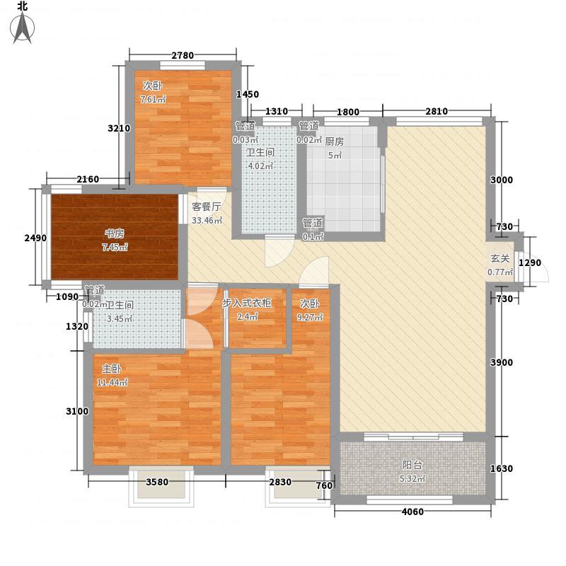 建发中泱天成高层2#3#5#6#标准层E1户型