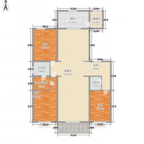 都市广场3室1厅2卫1厨262.00㎡户型图