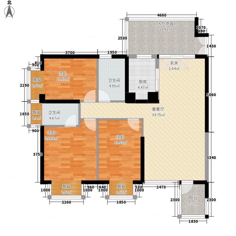 金象领域12.00㎡户型3室
