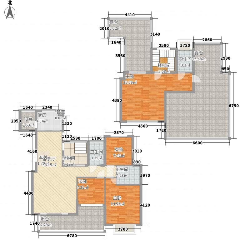 水木清华267.00㎡5#Ef户型3室2厅3卫