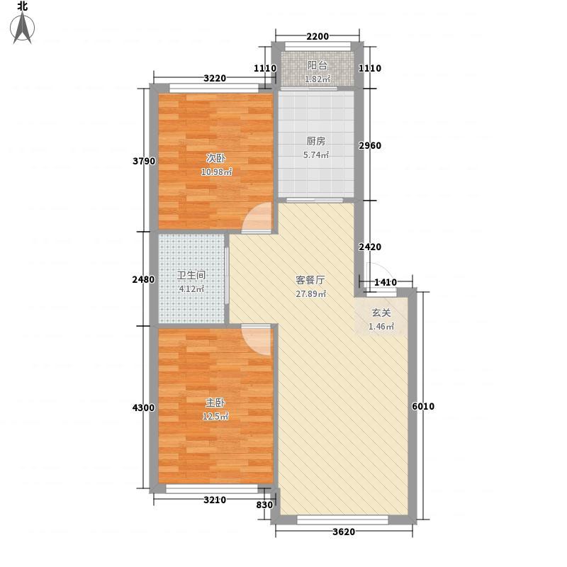 知音西村户型2室2厅