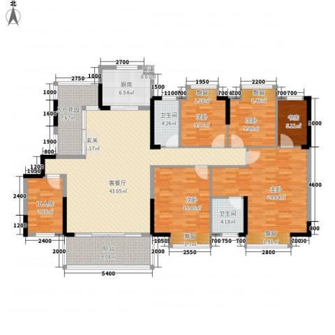 盛世华府5室1厅2卫1厨148.00㎡户型图