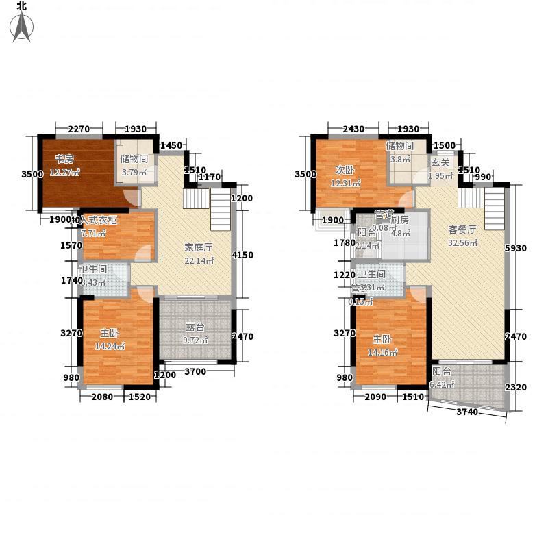 安粮蓝海城市广场188.26㎡A3F户型5室4厅2卫1厨