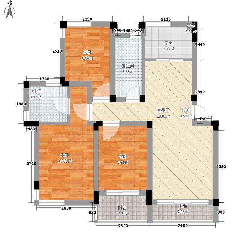 大通85.00㎡小区户型3室