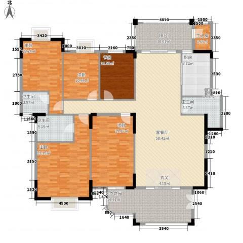 东江学府二期5室1厅3卫1厨189.85㎡户型图