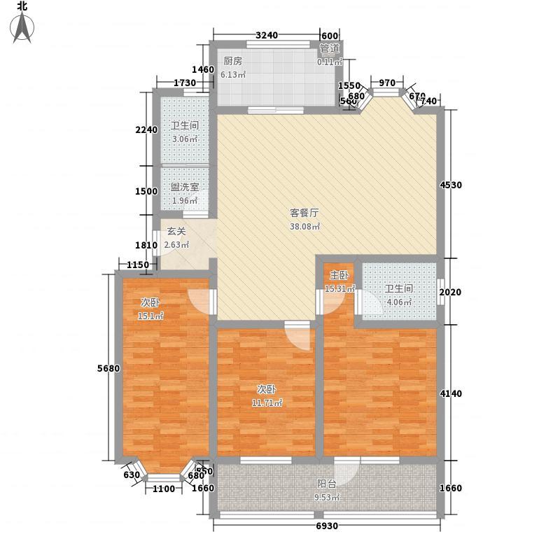 时代新城151.00㎡20号楼-错层户型3室