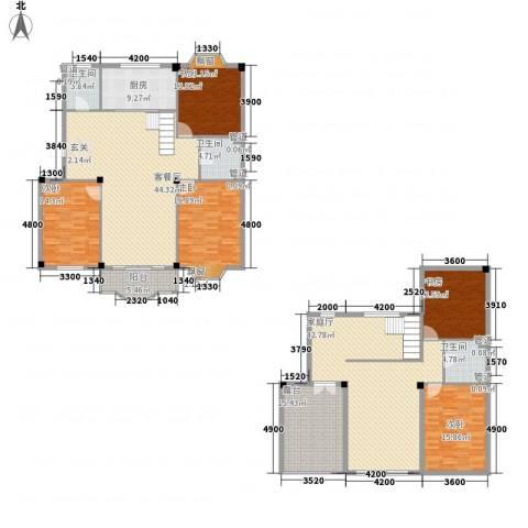 东兴苑二期5室1厅3卫1厨281.00㎡户型图