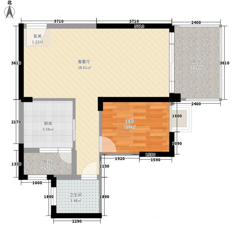 西山小区户型1室