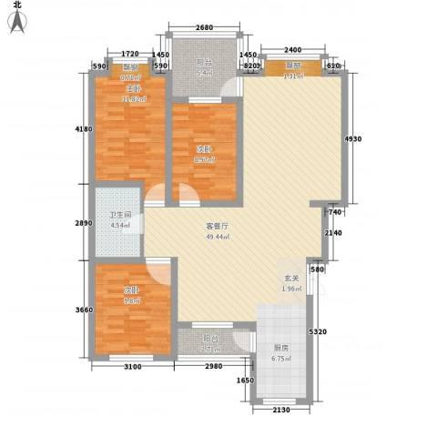 吉顺康城3室1厅1卫0厨132.00㎡户型图