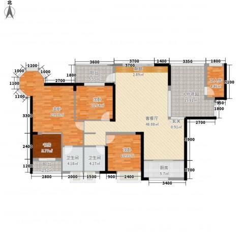 盛世华府4室1厅2卫1厨162.00㎡户型图