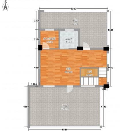君悦龙庭1室0厅1卫0厨142.00㎡户型图