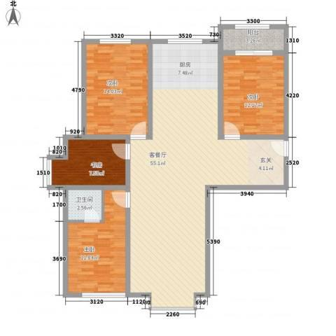 四环花园4室1厅1卫0厨150.00㎡户型图