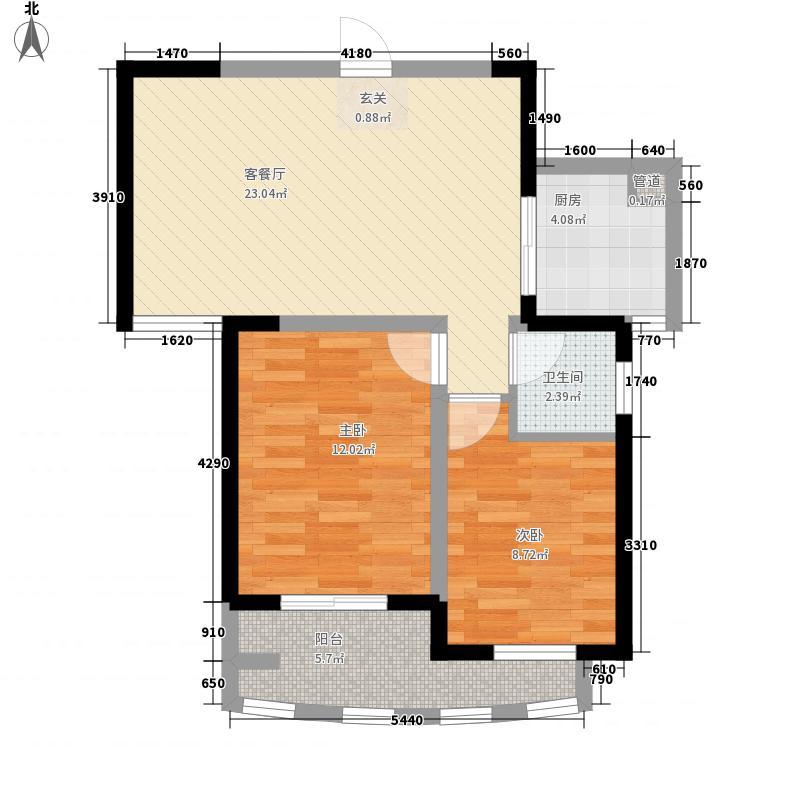 曼哈顿广场81.73㎡B4户型2室2厅1卫1厨