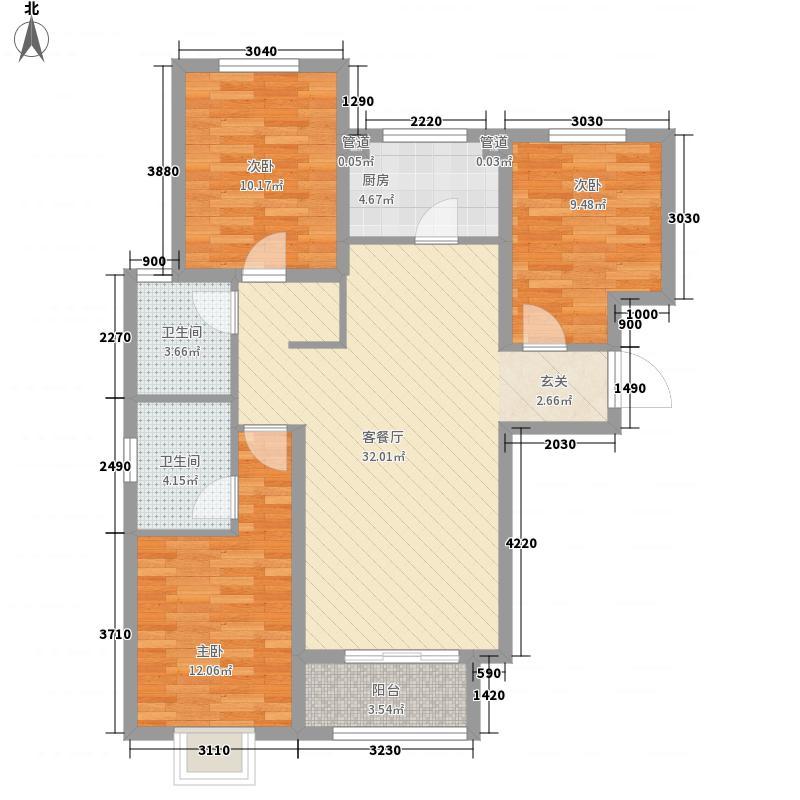 丰乐世纪公寓户型3室