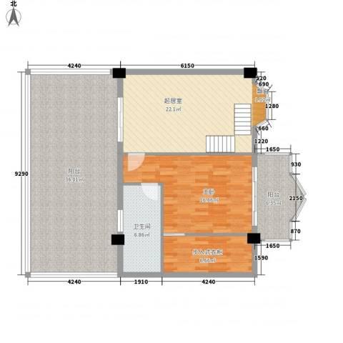 温馨佳苑1室0厅1卫0厨131.00㎡户型图