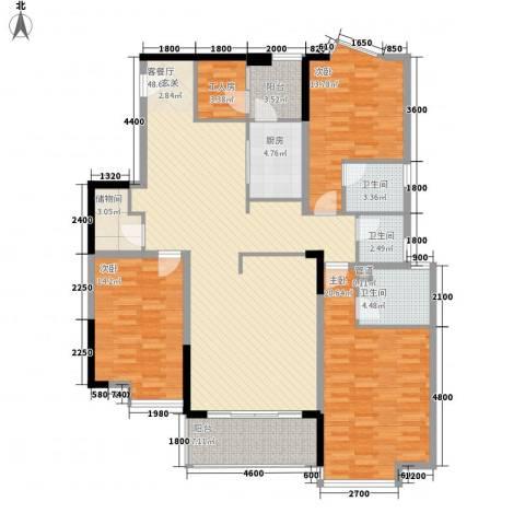 湖景壹号庄园二期3室1厅3卫1厨169.00㎡户型图
