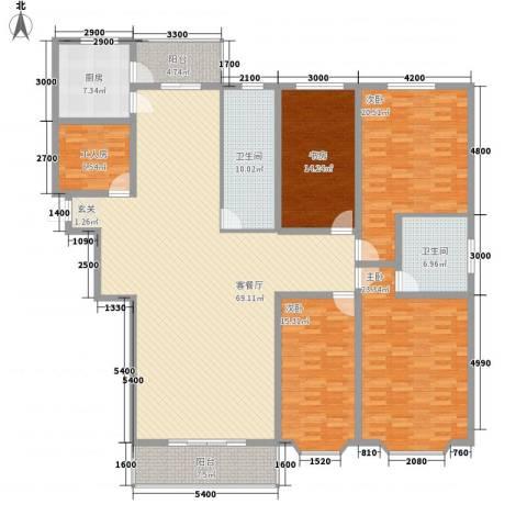 大唐龙庭(大唐智能花园三期)4室1厅2卫1厨242.00㎡户型图