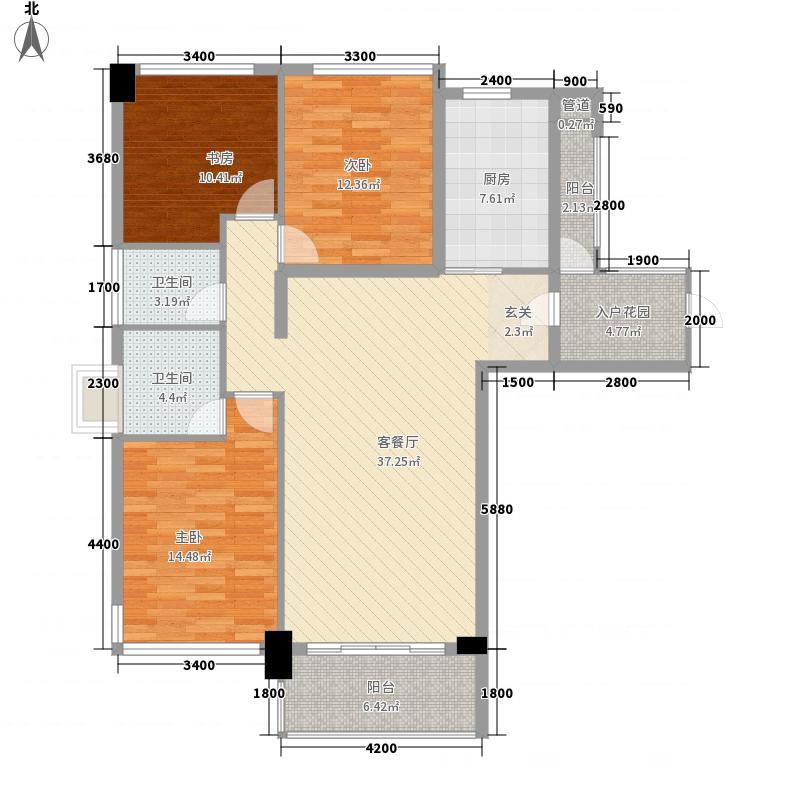 �景雅筑柏景湾A空间赏户型3室2厅2卫1厨