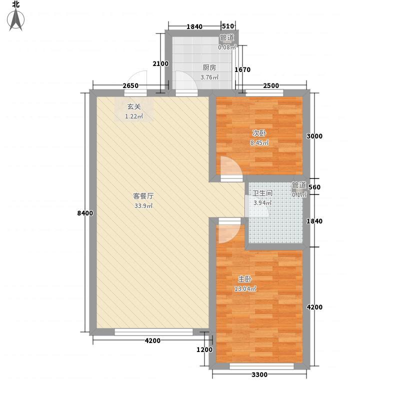 龙湖花园8.00㎡户型2室