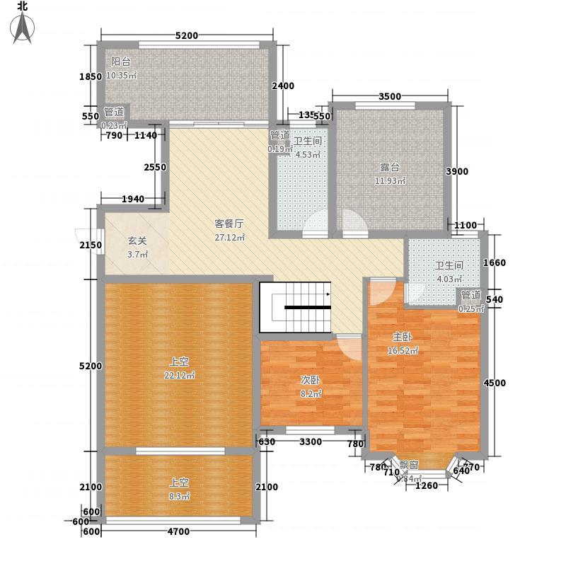 东方名城天鹅堡75.00㎡户型2室