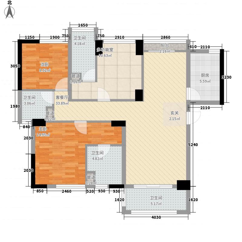 中业新城115.38㎡12幢01户型3室2厅3卫1厨