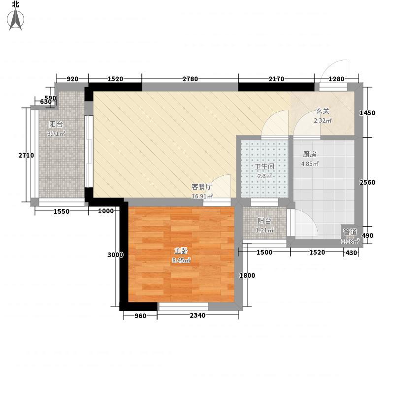 海天花园55.00㎡户型1室