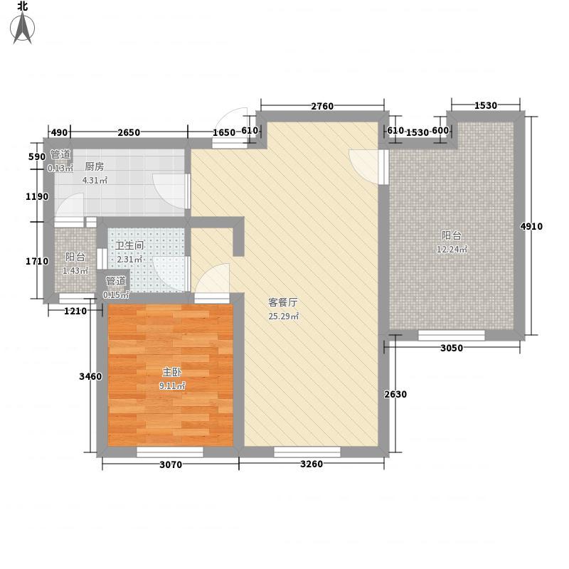 银盛泰书香蔓城75.20㎡2期g-05户型1室